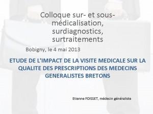 Etienne Foisset  N° 5 Etude d'impact de la visite médicale