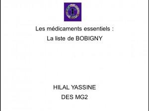 Médicaments essentiels Hilal Yassine