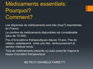 Medicaments essentiels