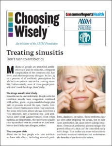 Treating sinusitis