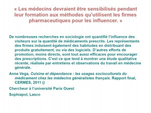 vega medecins influencés
