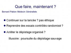 Bernard Pabion Que faire