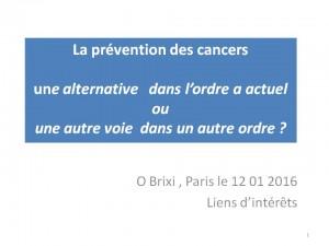 Omar Brixi Prévention des cancers